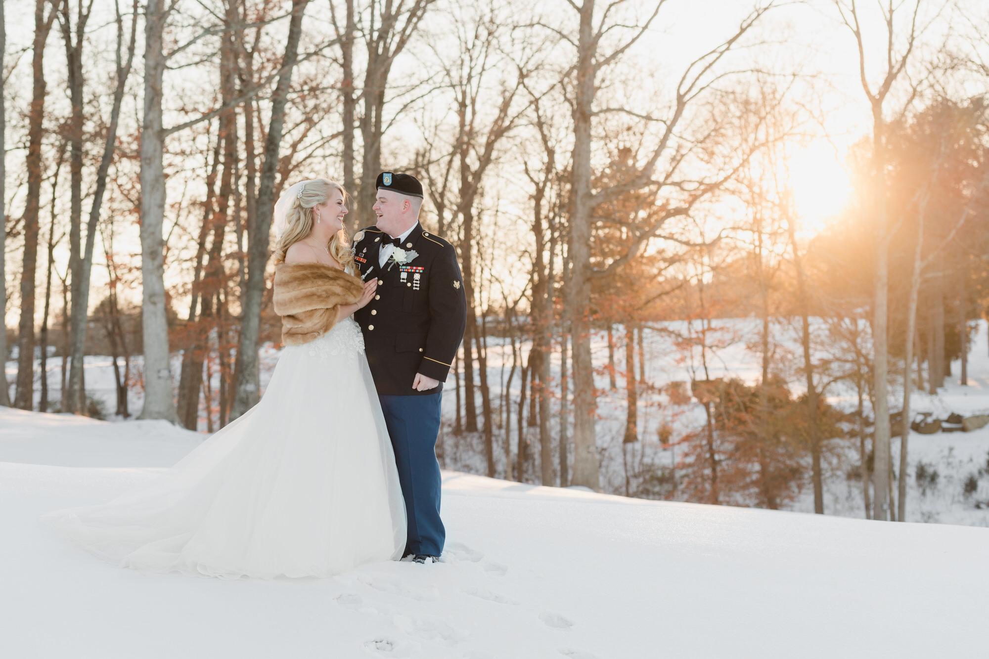 snowy winter wedding couple photos 531 -