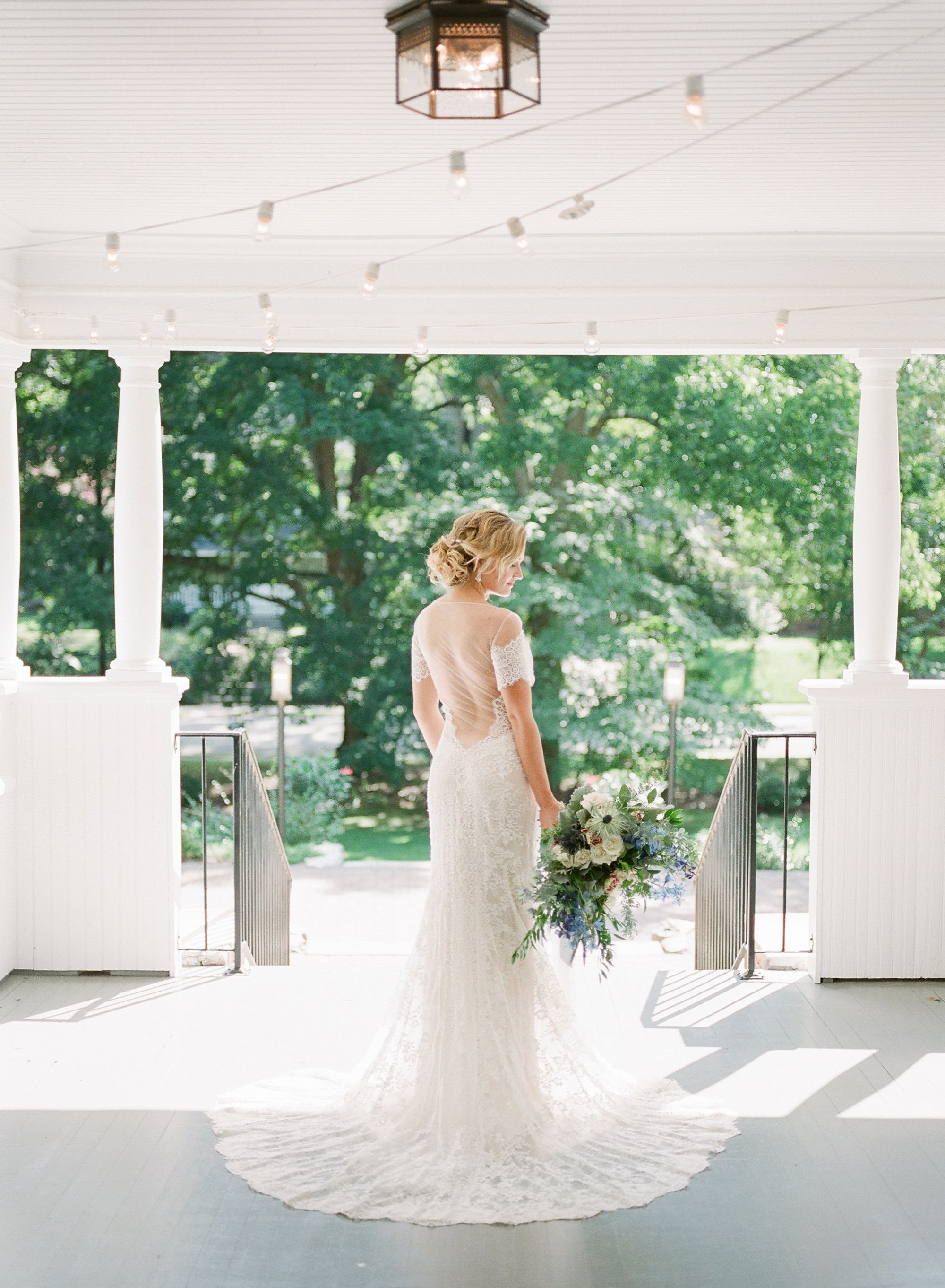 romantic bridal portrait at ritchie hill
