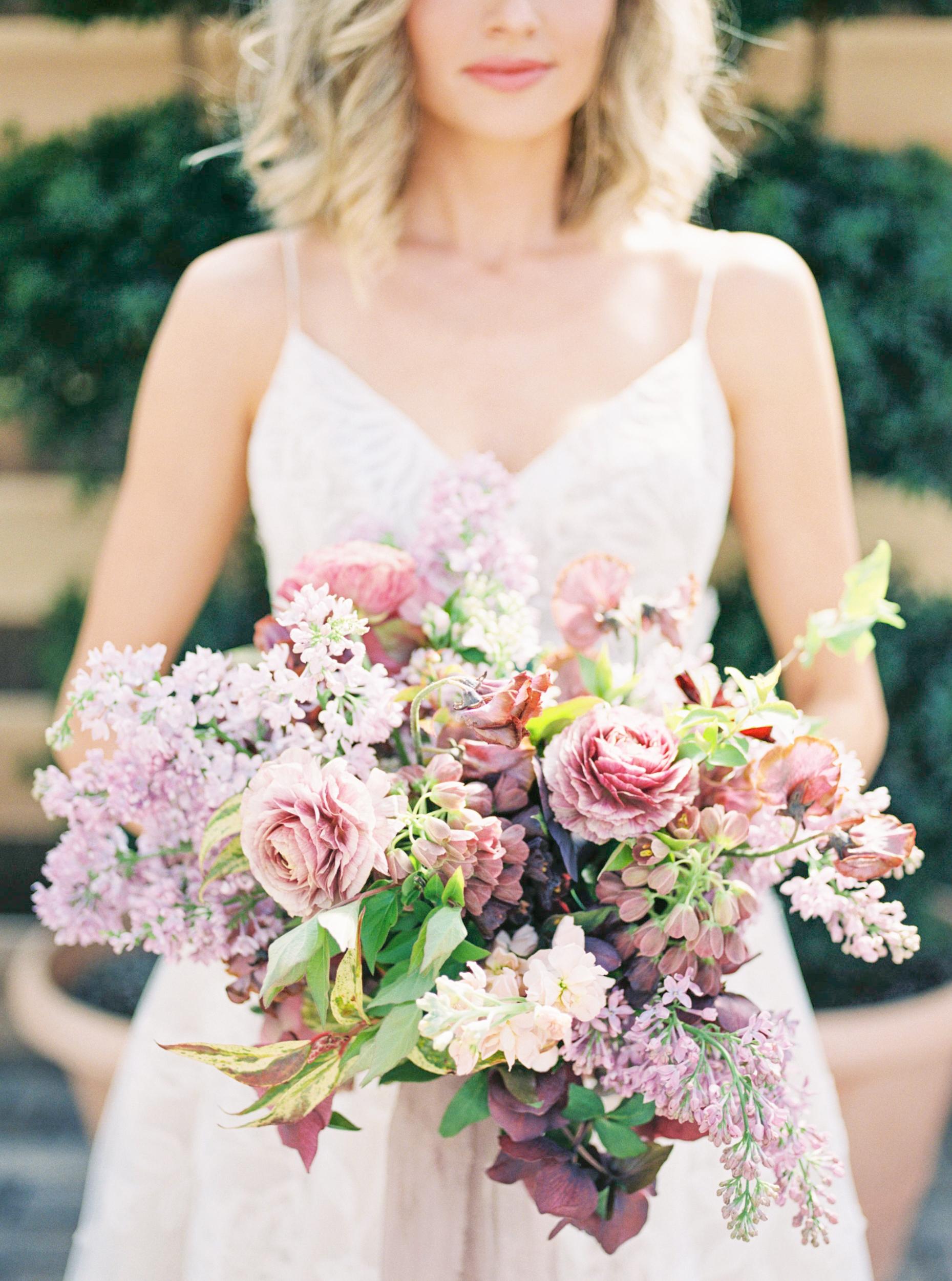floral bouquet shot on film