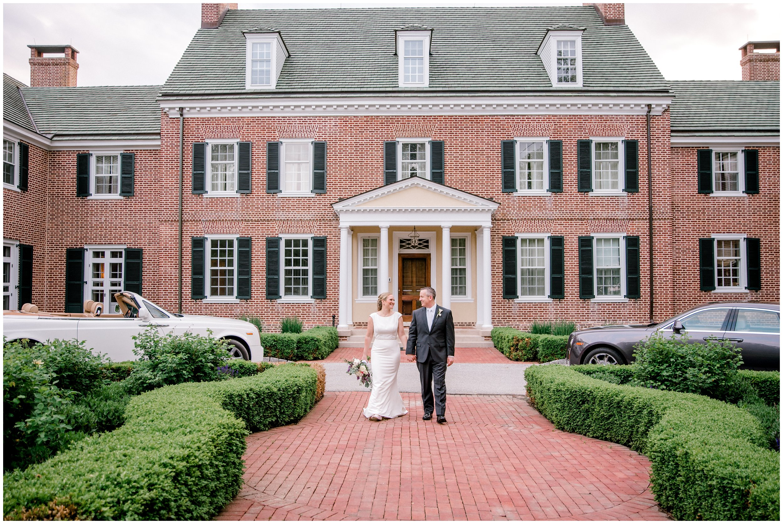 just married maryland chateau wedding