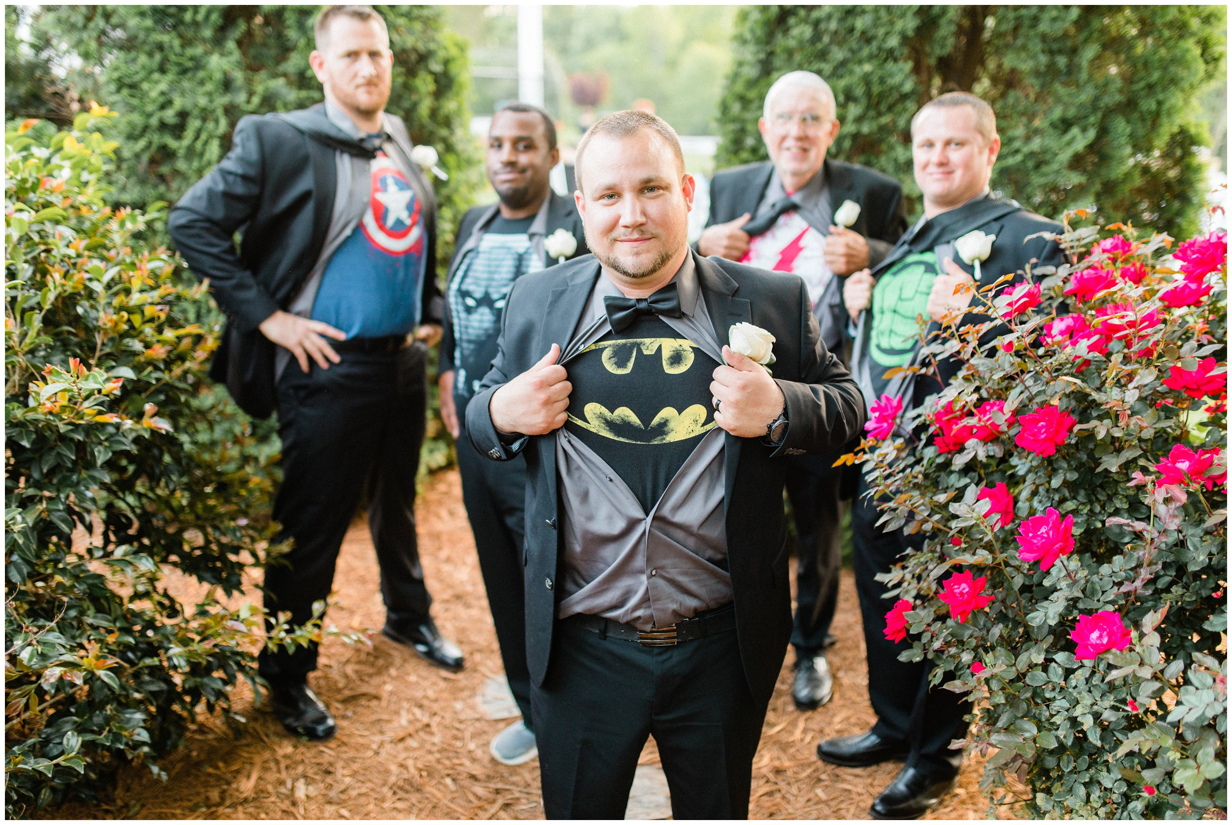 superhero themed groomsmen