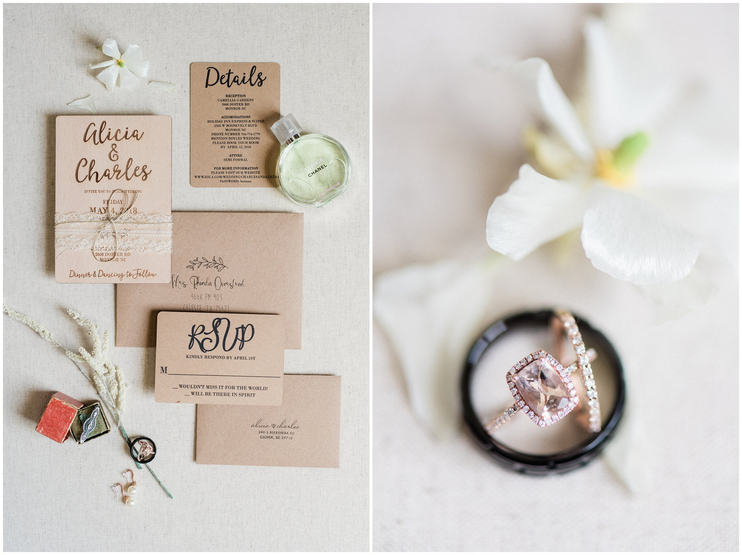 timeless charlotte wedding details