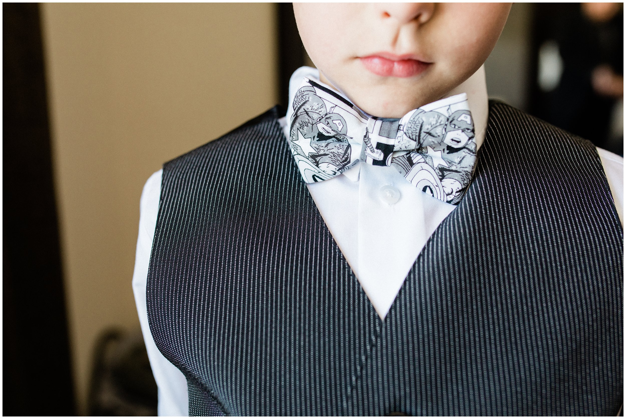 ring bearer superhero bowtie