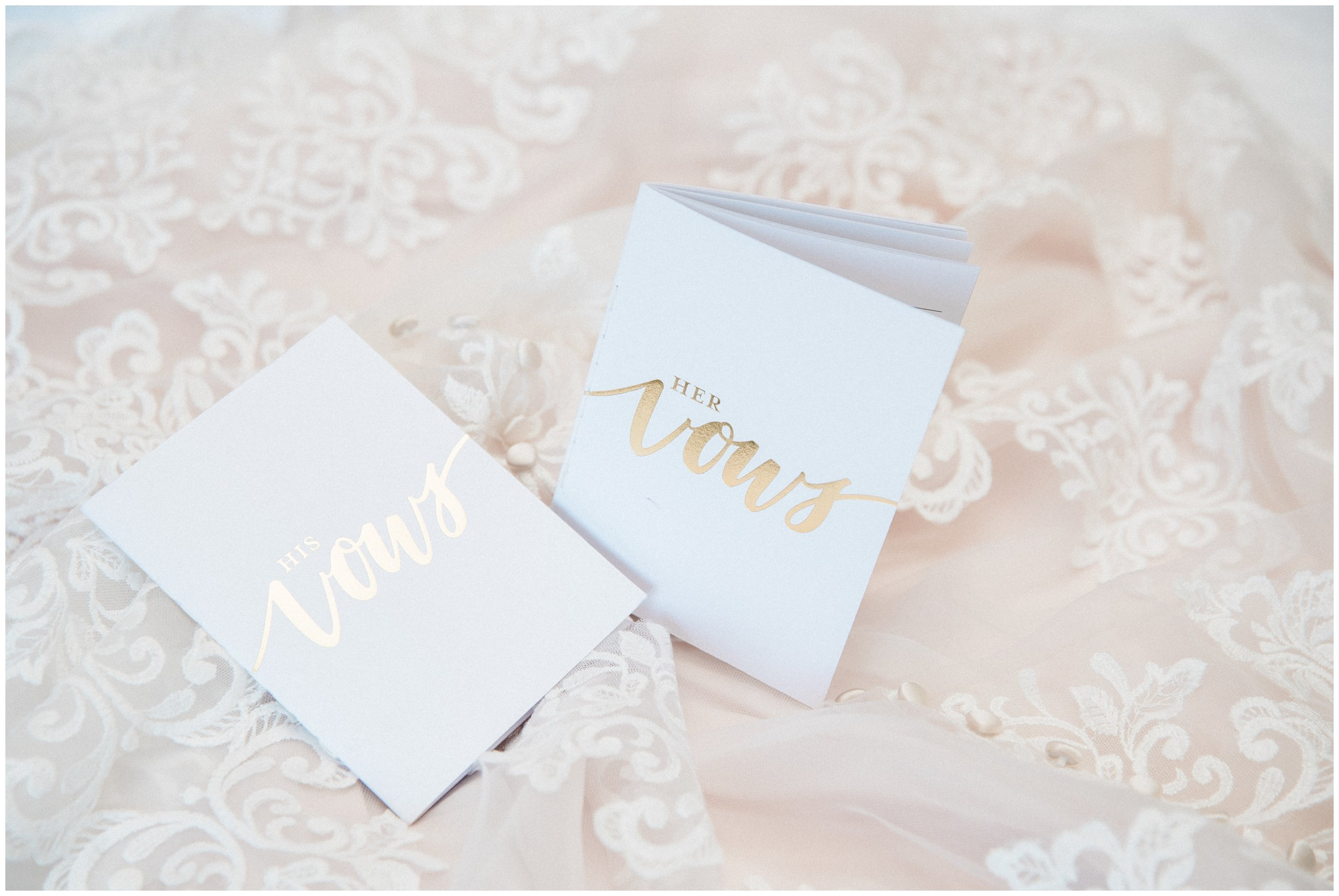 custom his and hers vow booklets