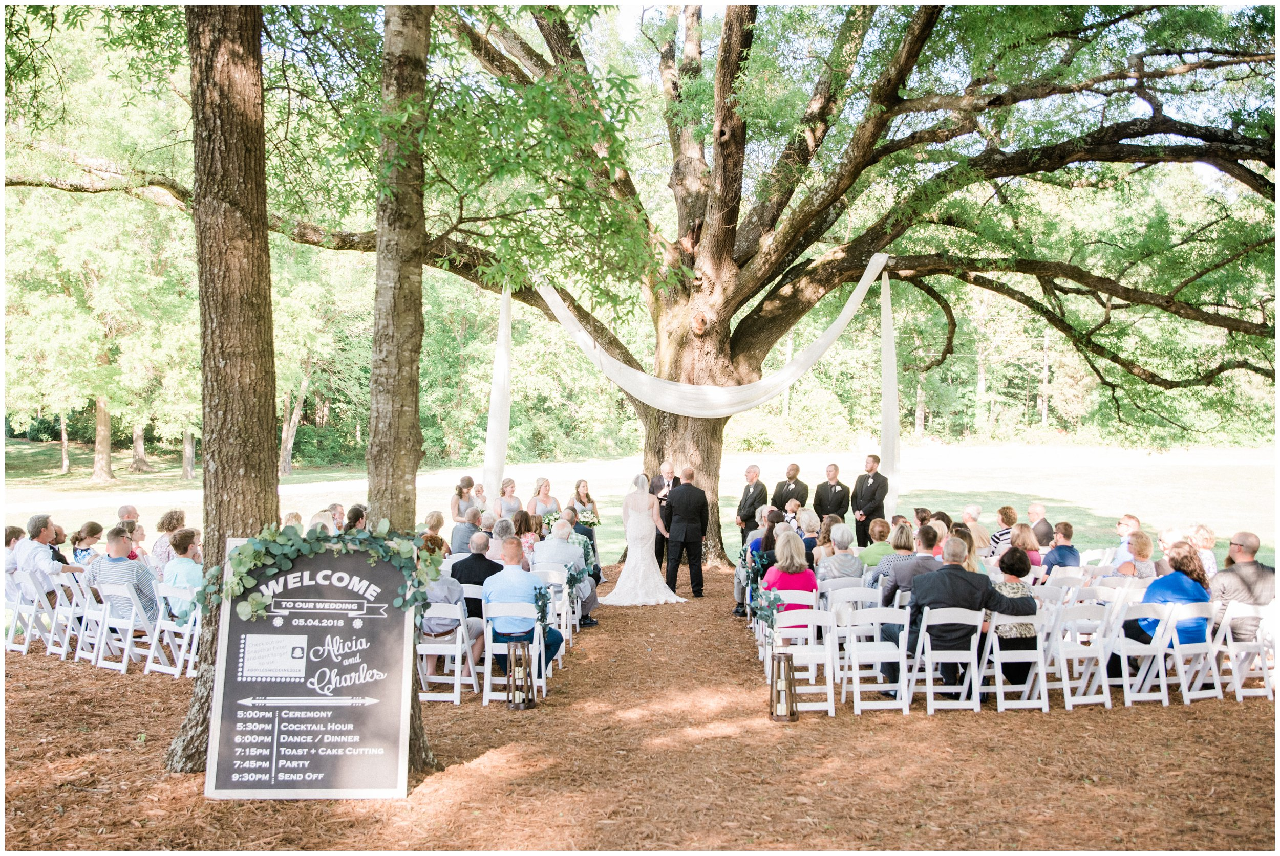 gorgeous outdoor charlotte wedding ceremony