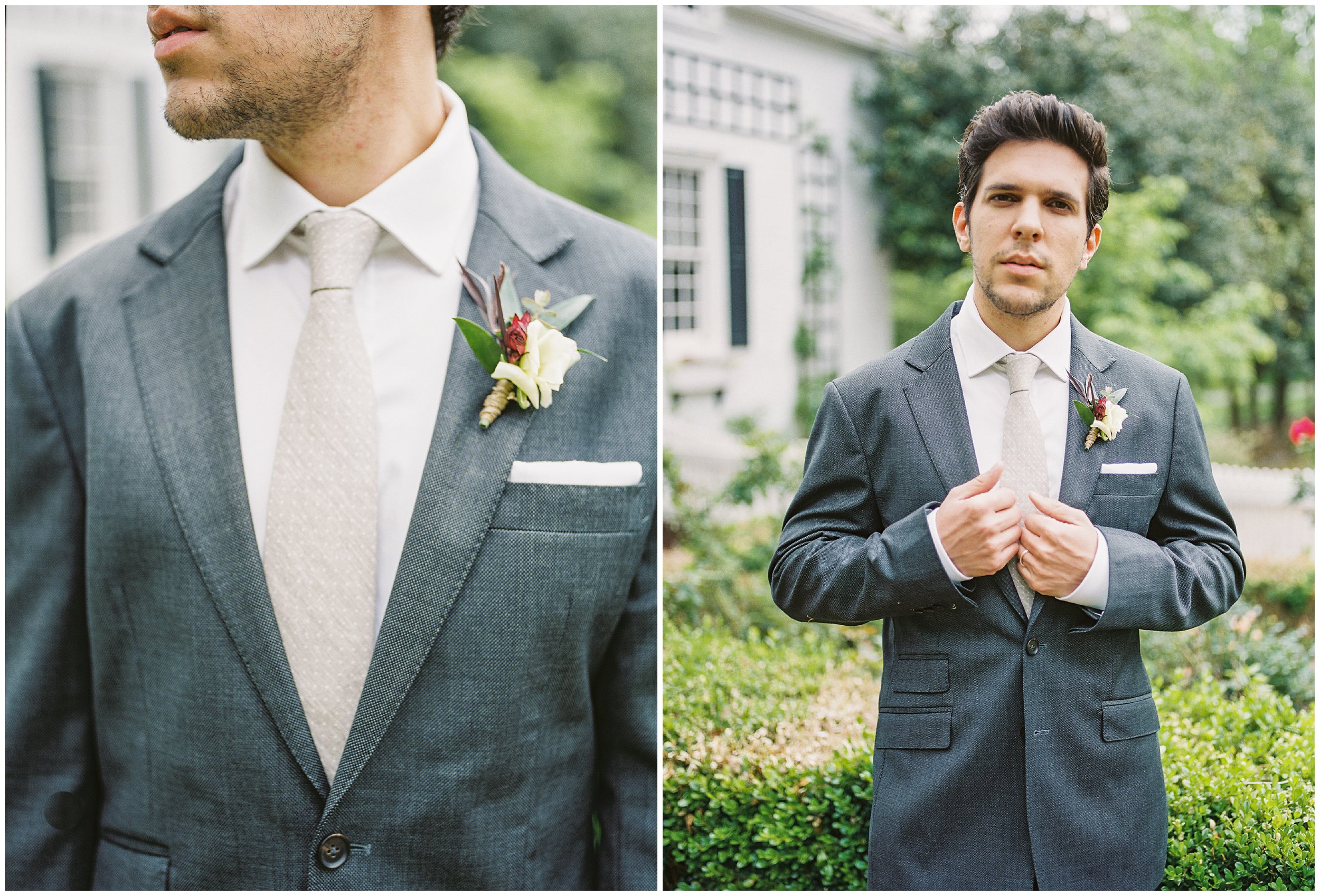 groom details and portrait