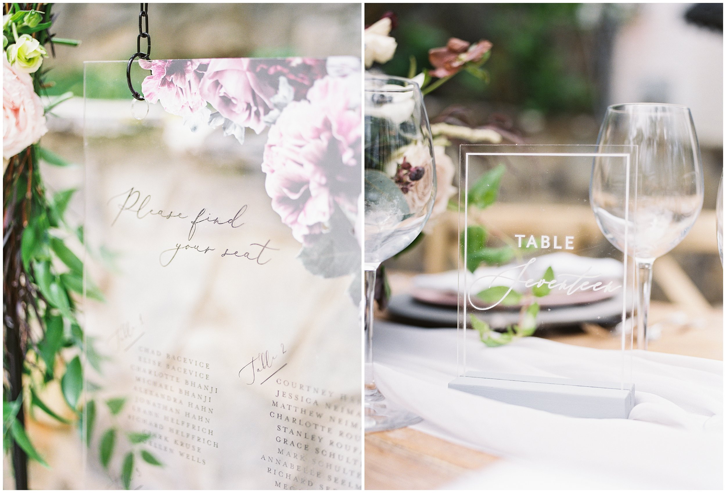 seating chart and table numbers