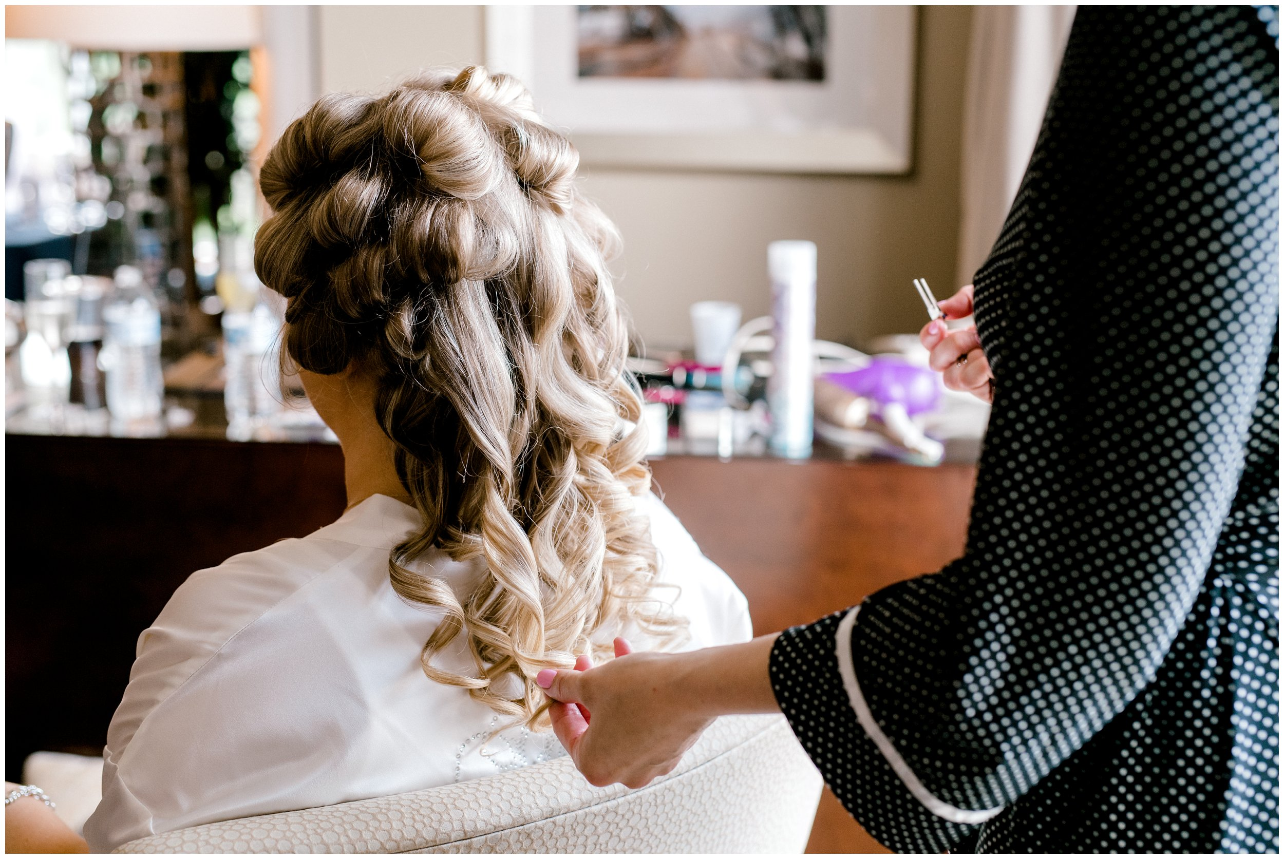 Hair detail for Chesapeake Bay Wedding