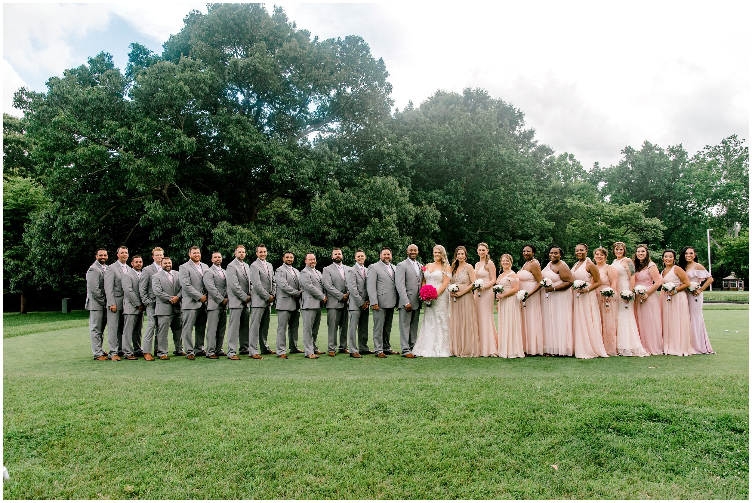 Large wedding party Maryland wedding