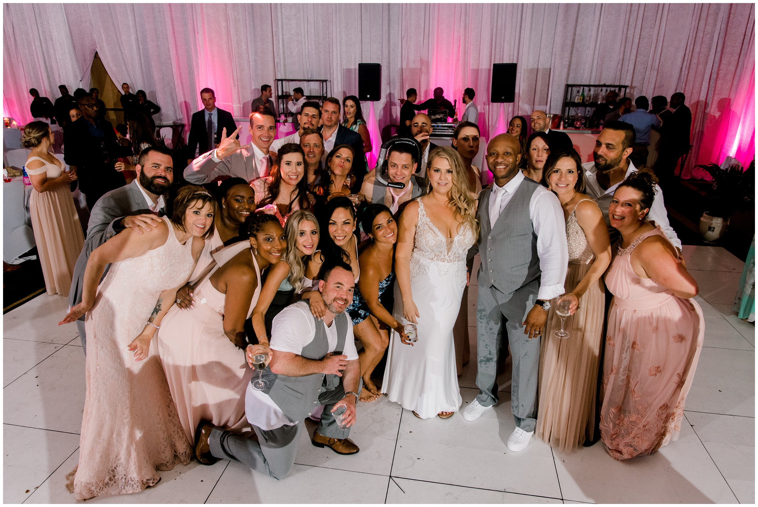 Maryland wedding reception group photo