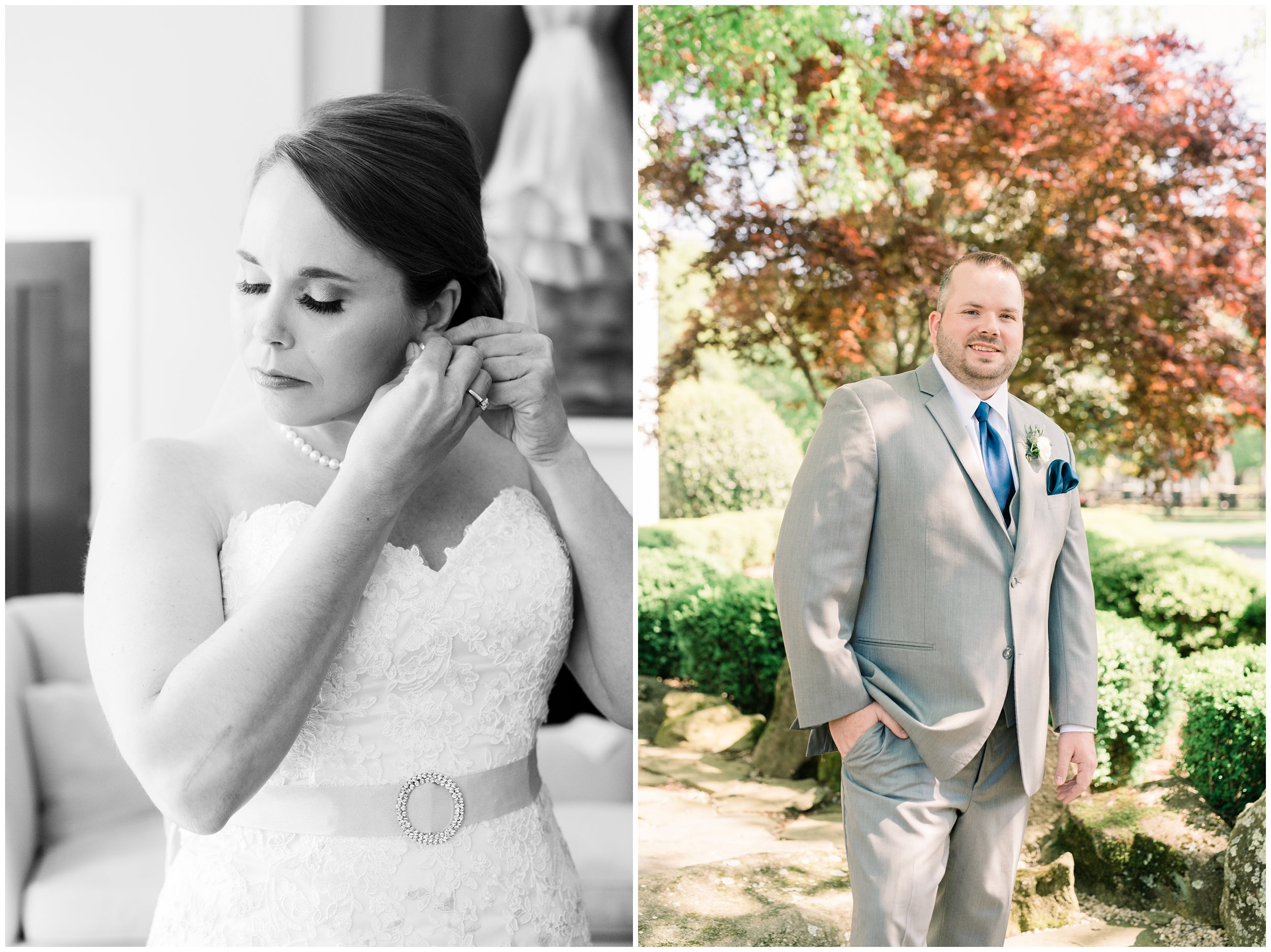 bridal details and grooms portrait