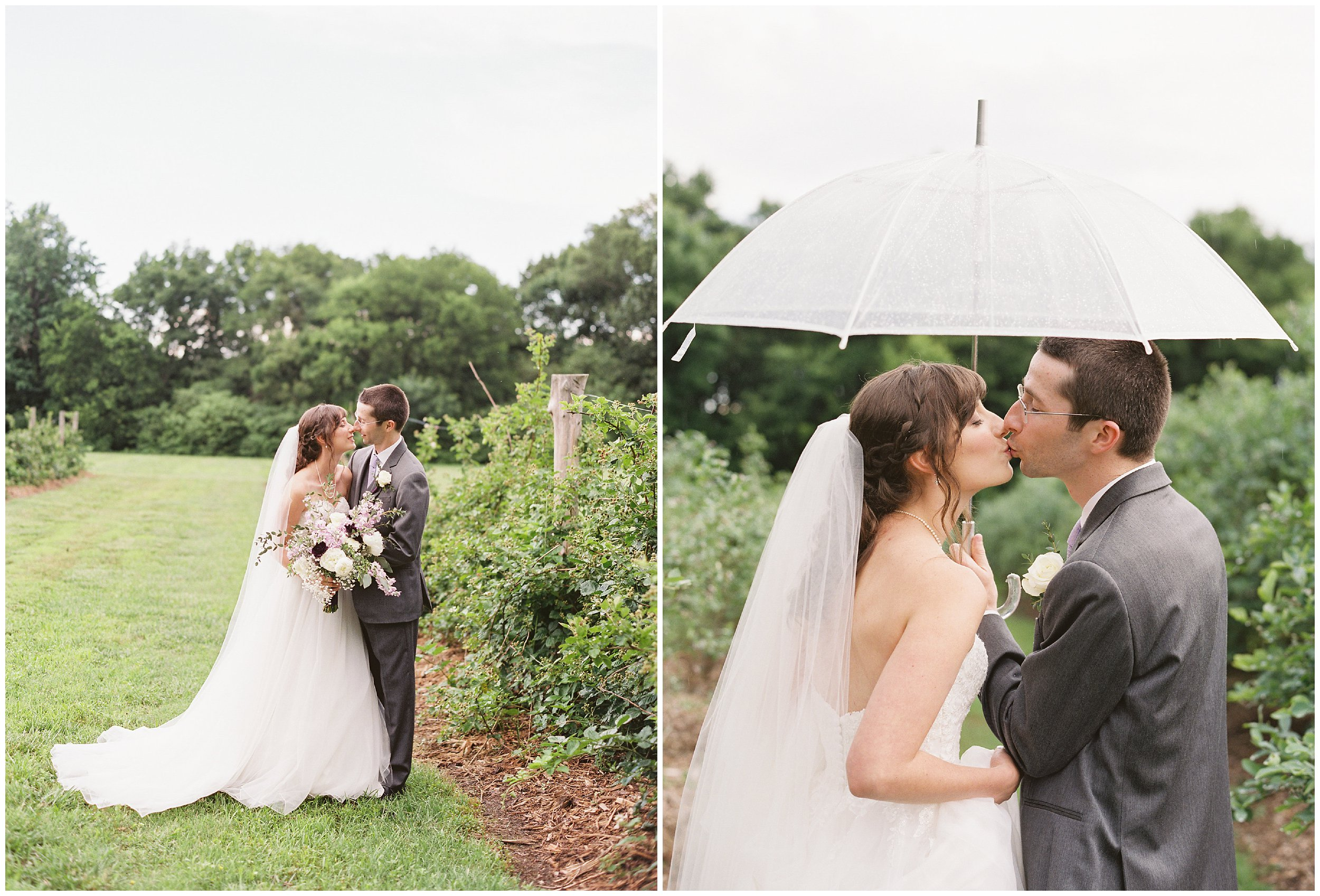 wedding portraits in the rain morning glory farm
