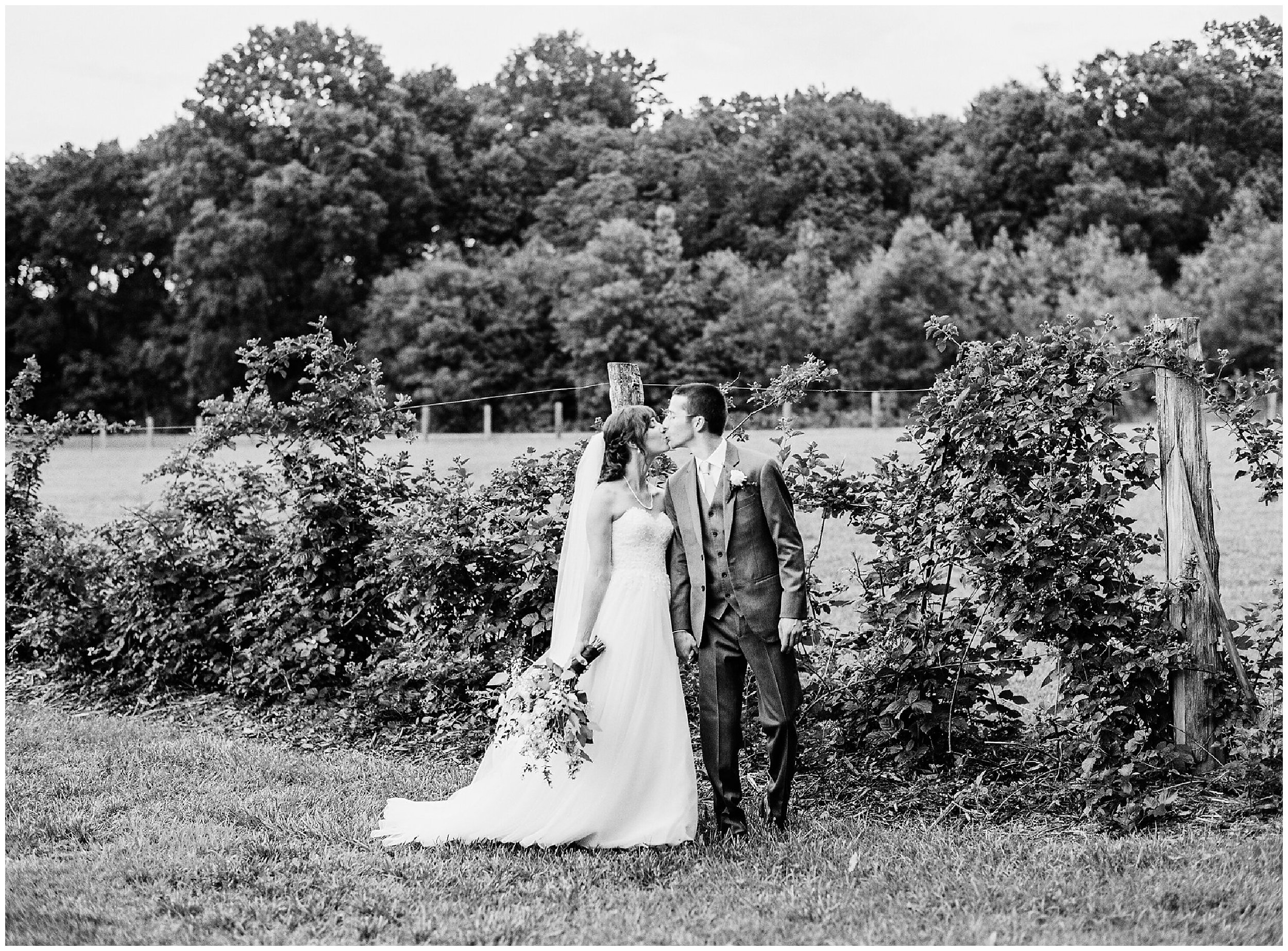 morning glory farm wedding portrait