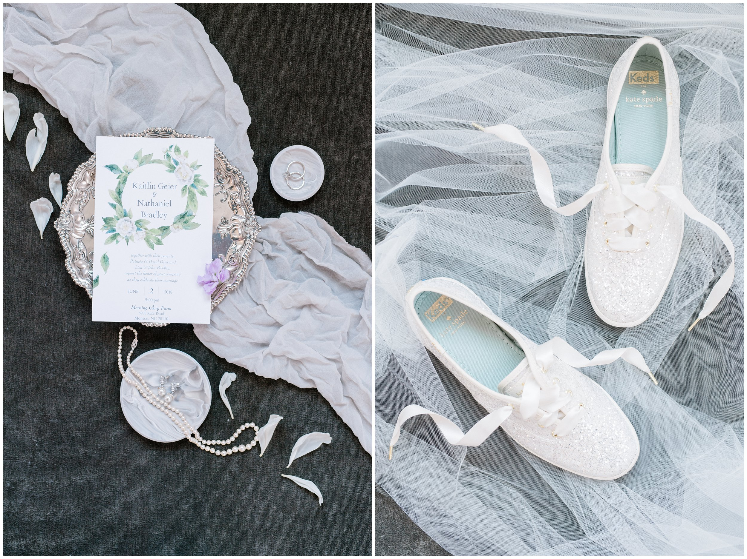 charlotte wedding stationery and shoe detail