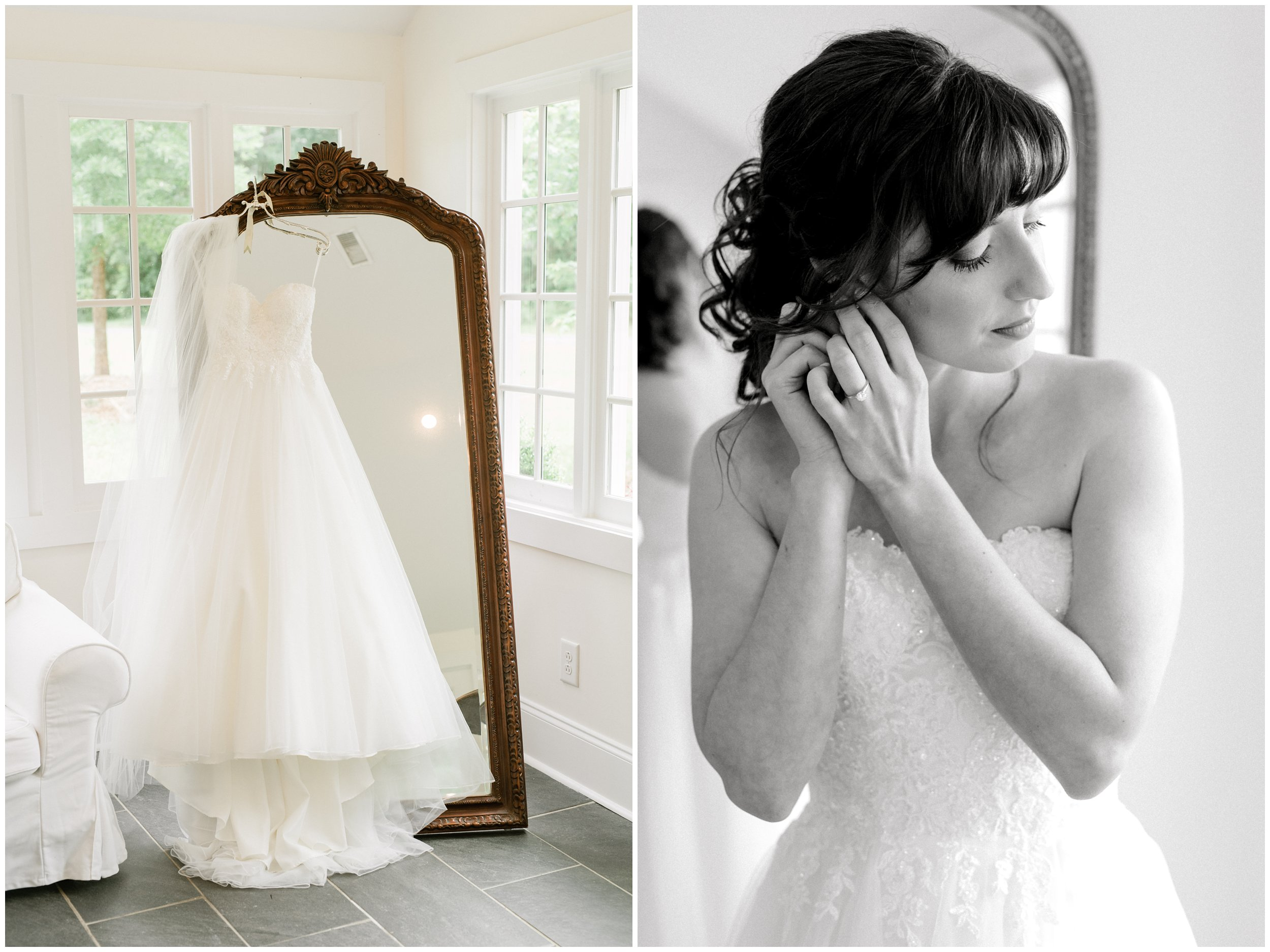 beautiful wedding dress and bridal details