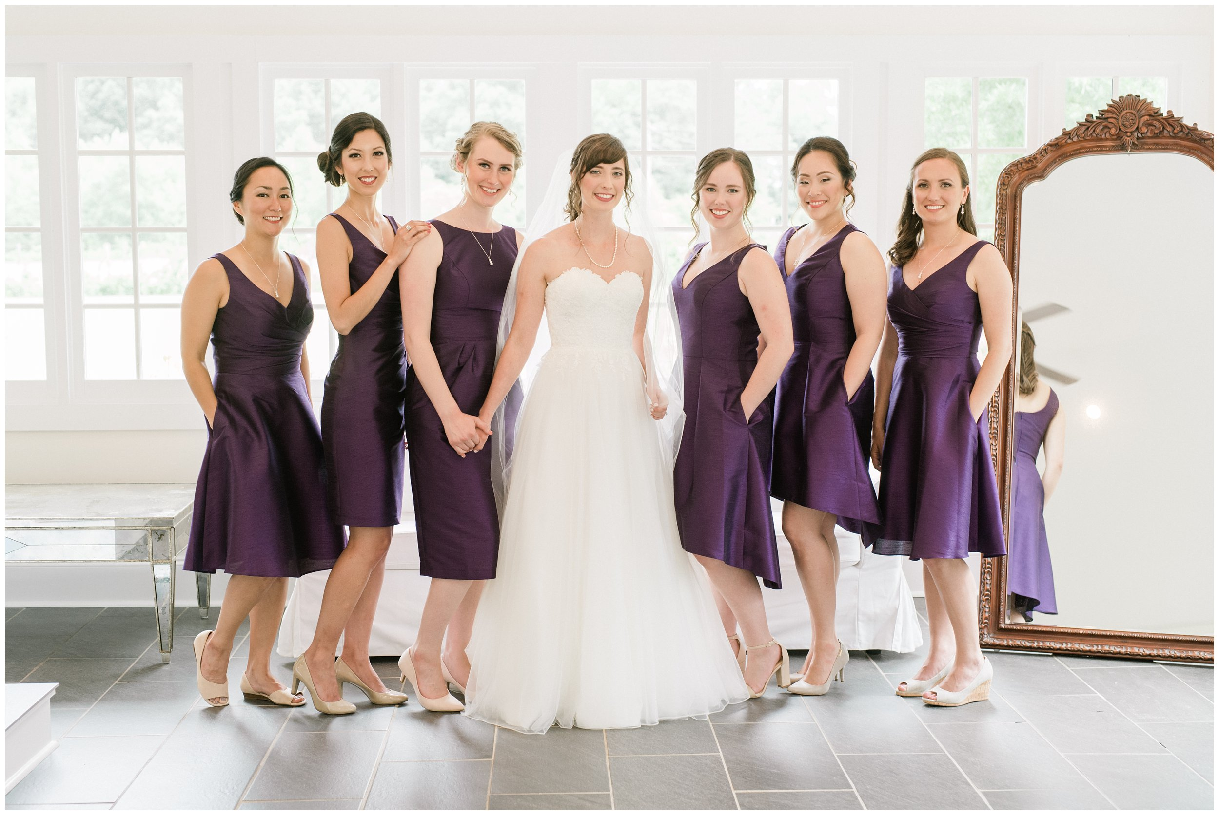 bridal party purple wedding details