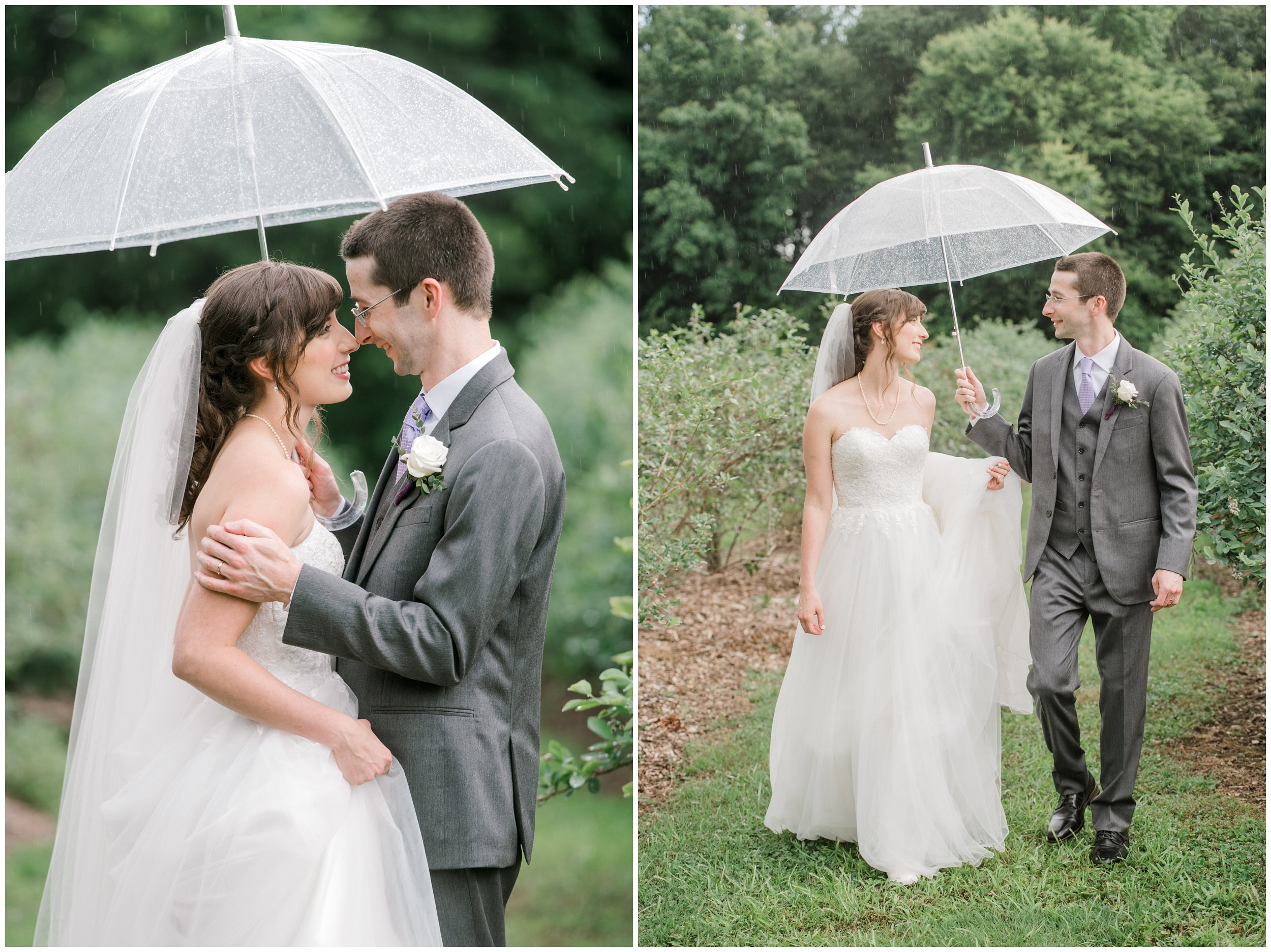 charlotte wedding portraits in the rain