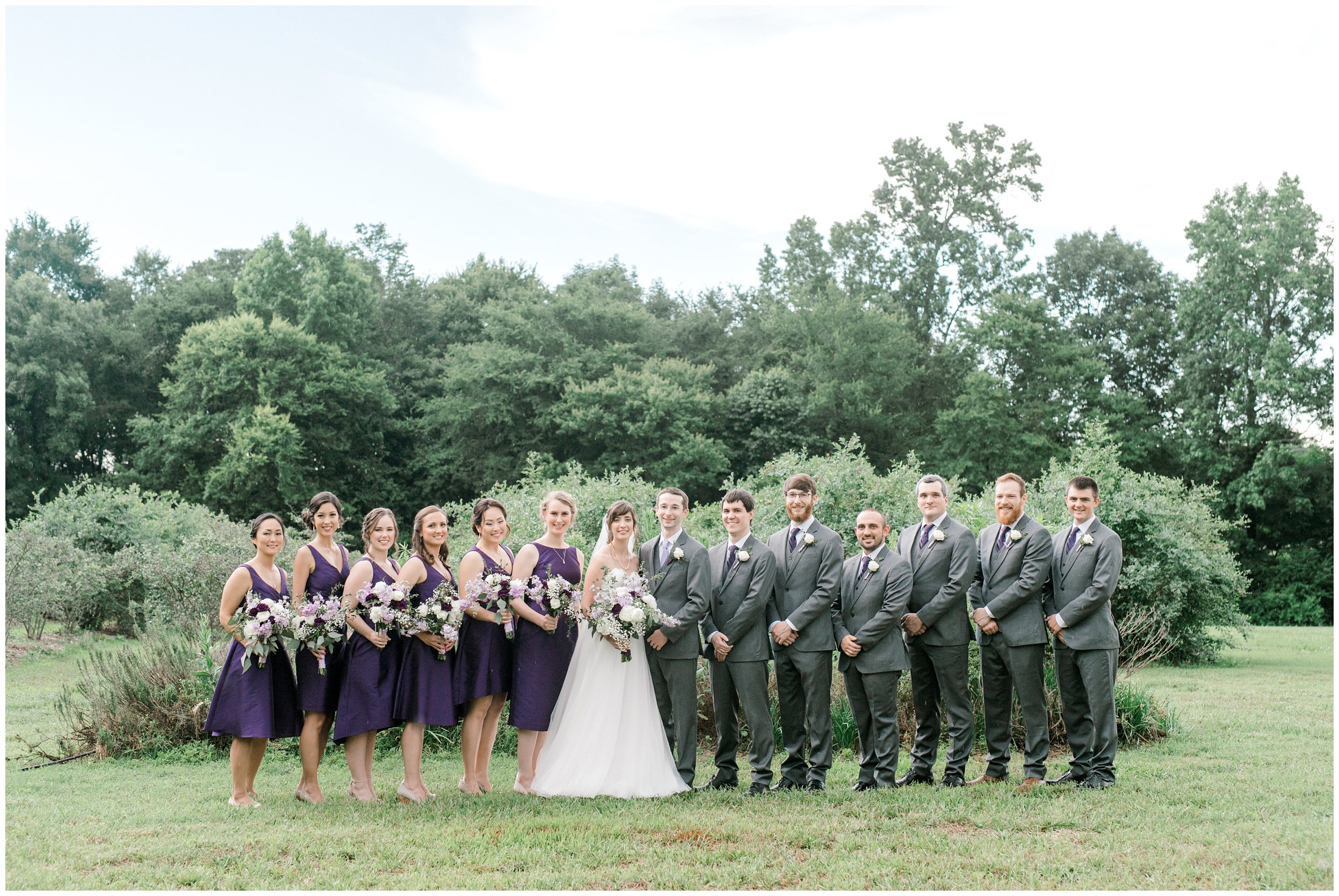 morning glory farm wedding party