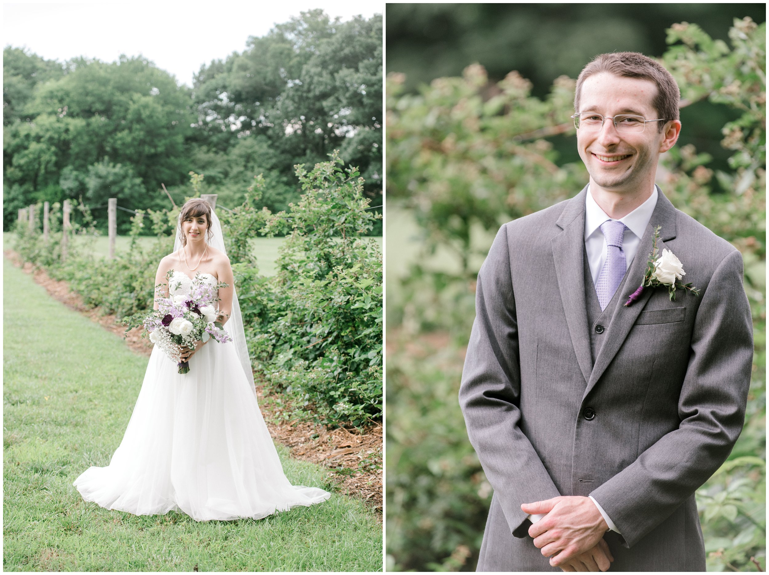 formal portraits of bride and groom