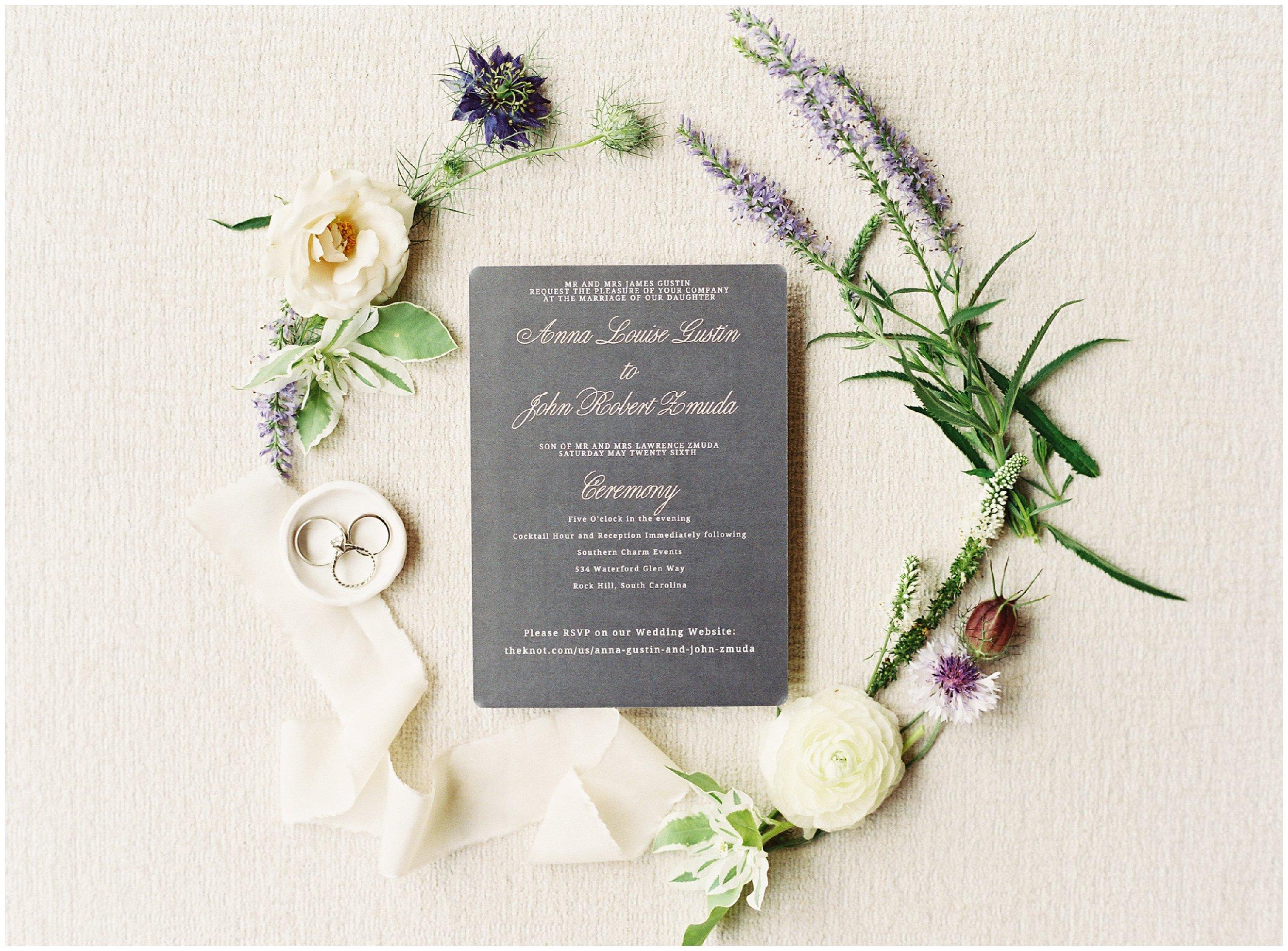 beautiful rock hill wedding invitations
