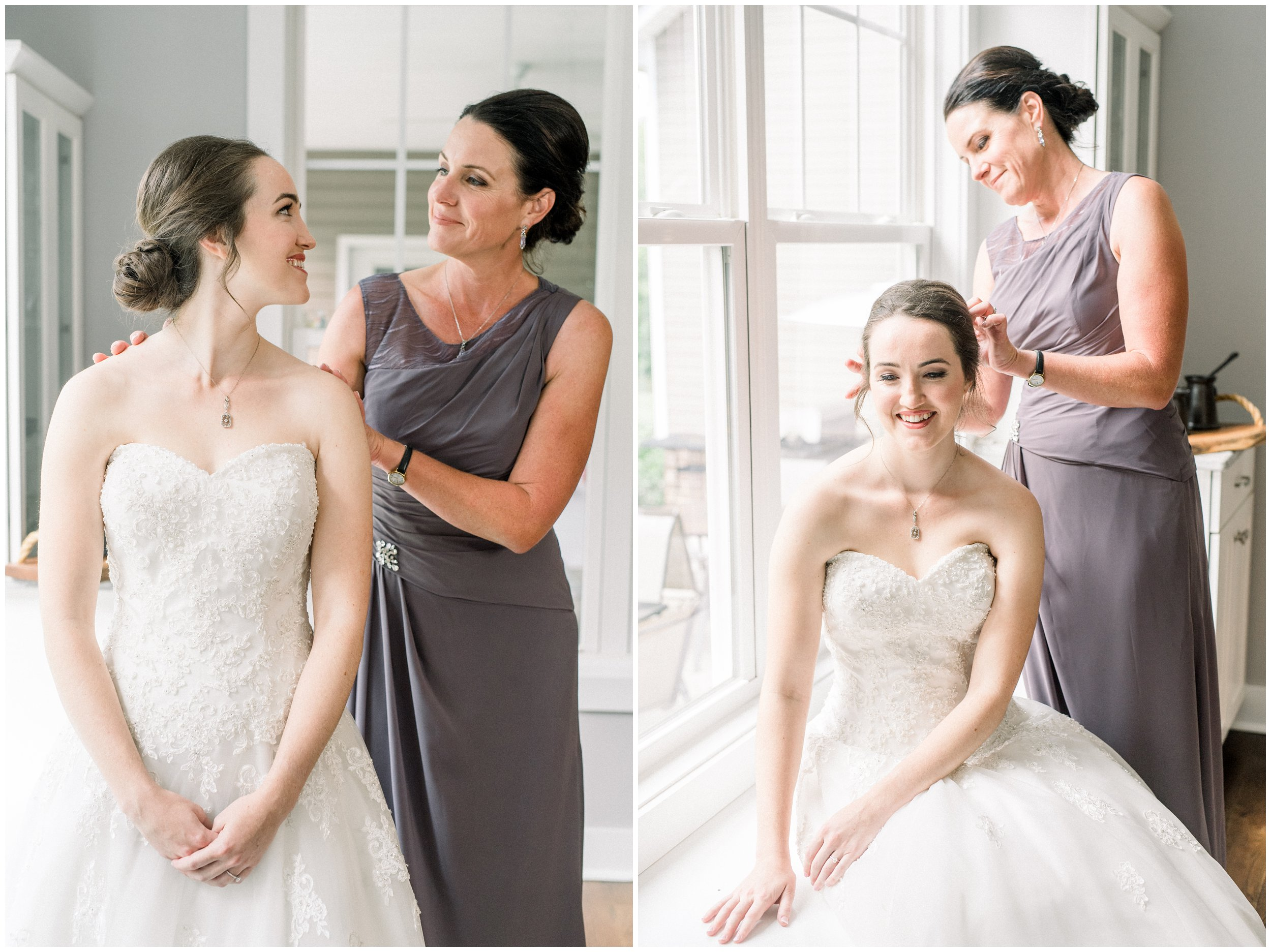 bridal details with mother of the bride