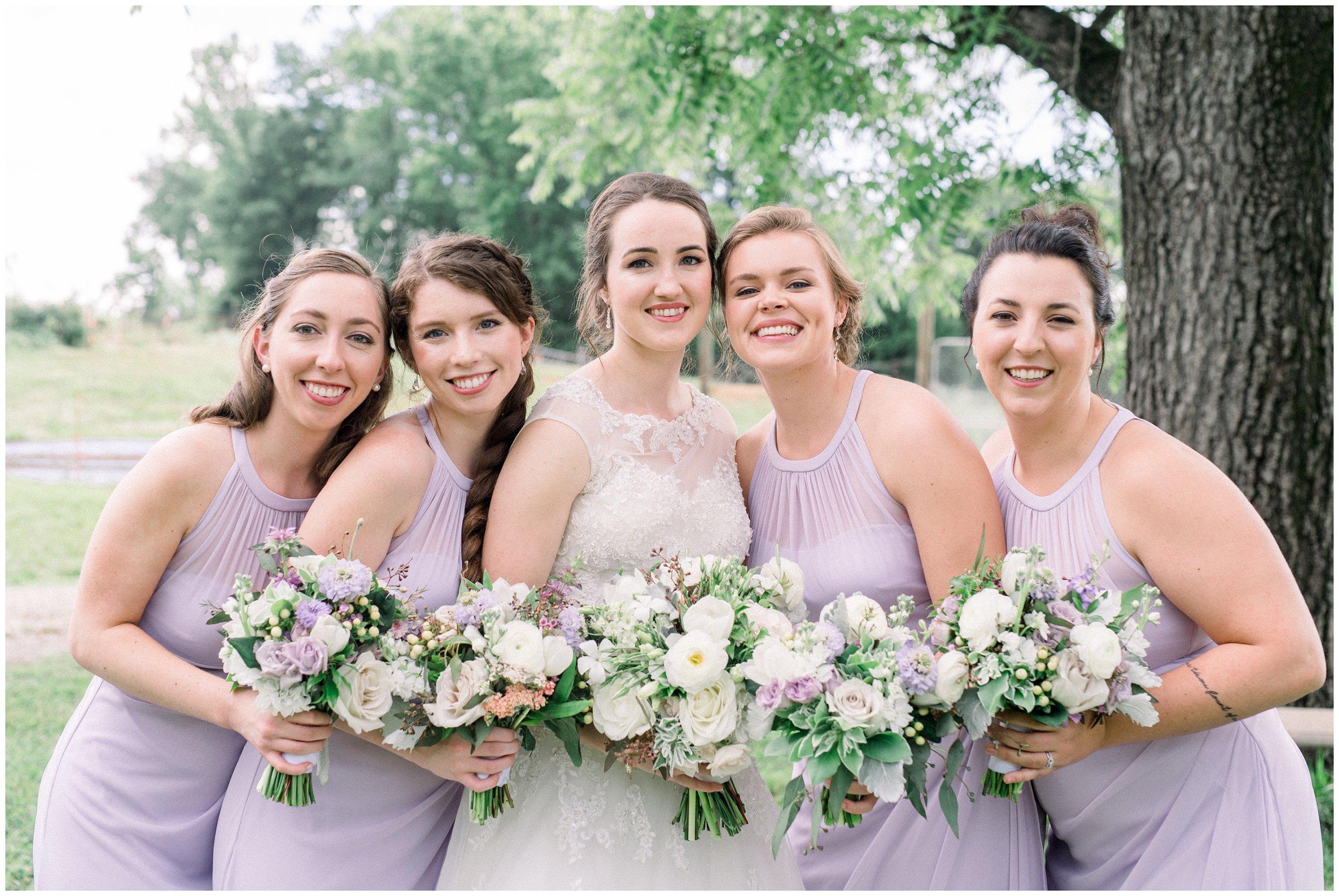 bridal party lavender details