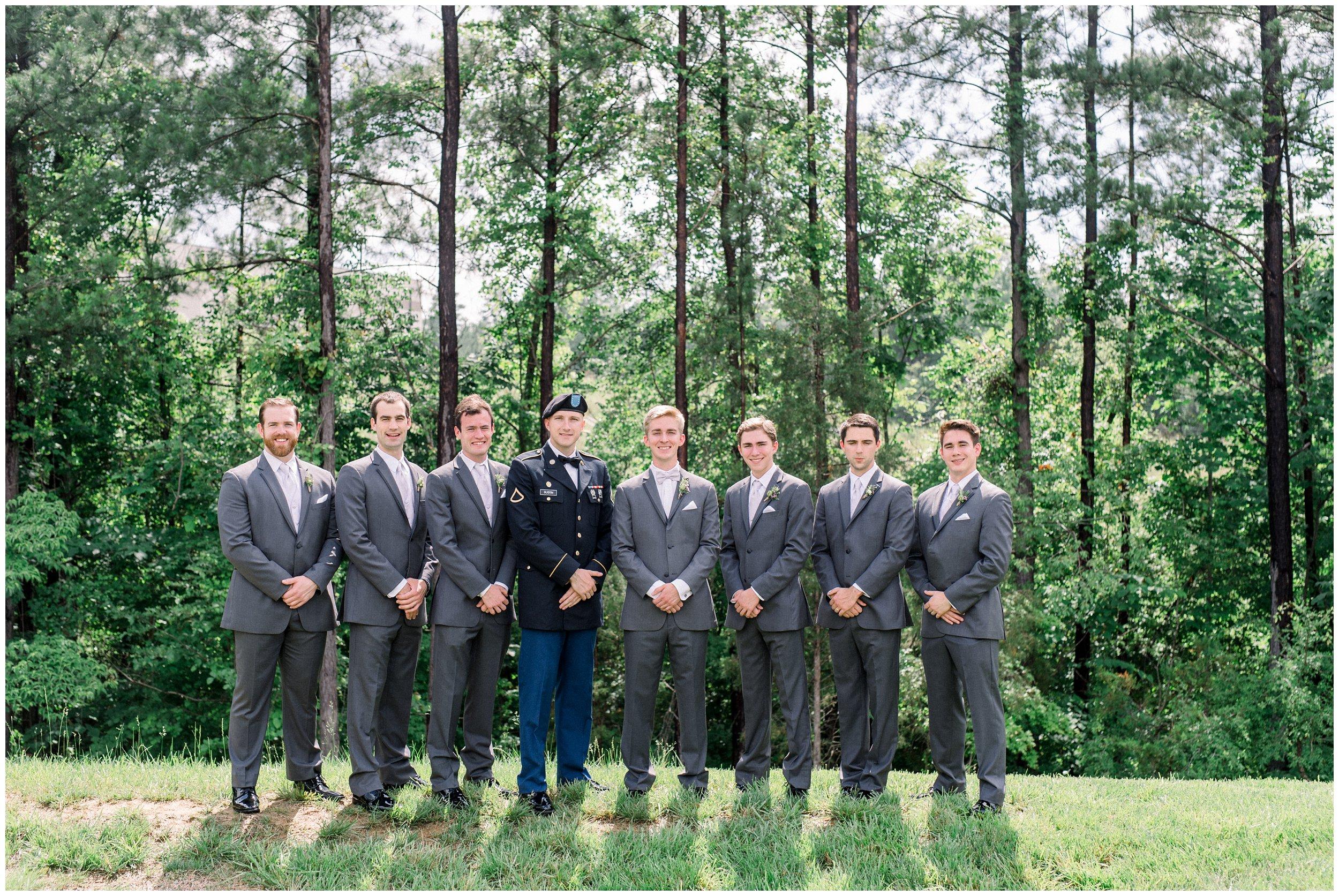 groom with groomsmen before wedding