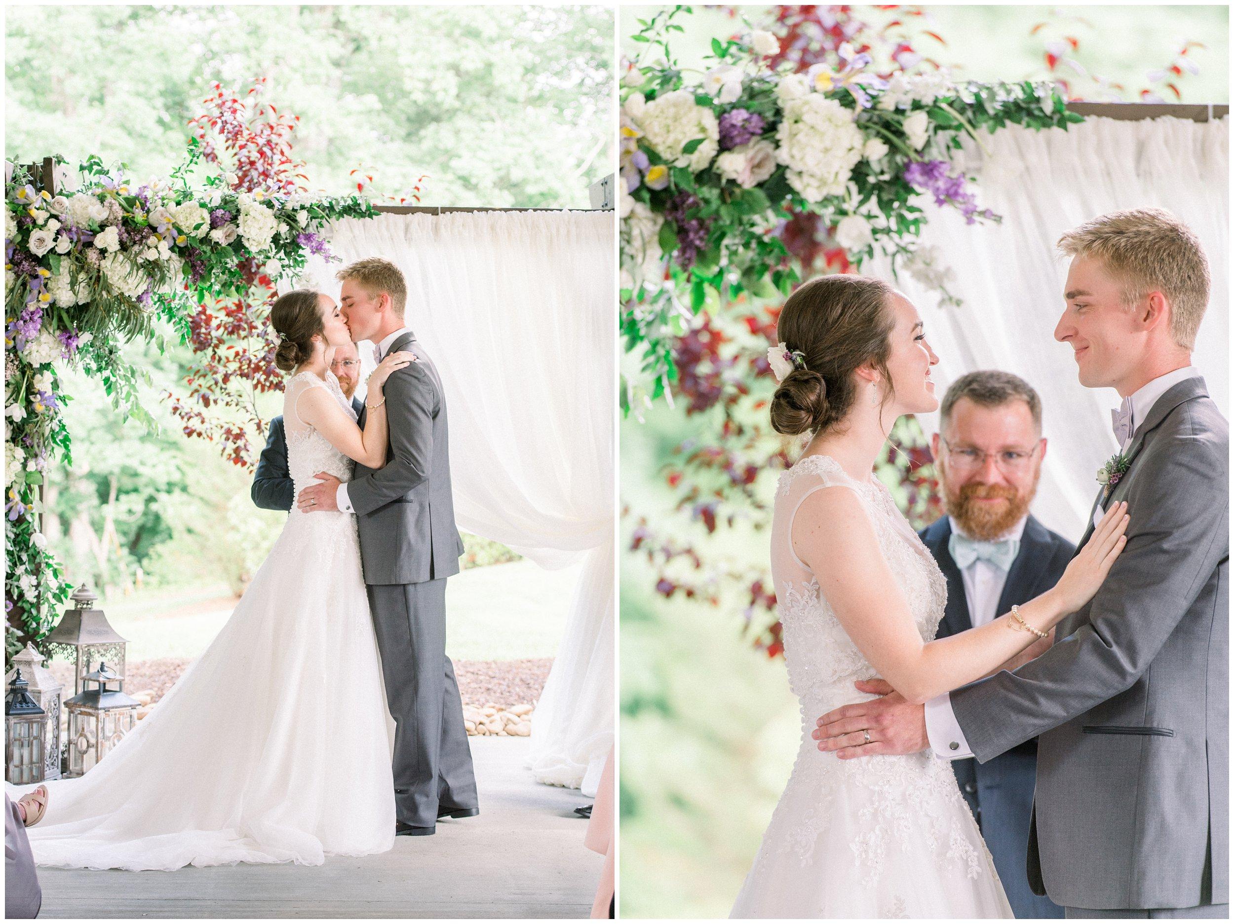 frist kiss as husband and wife south carolina wedding