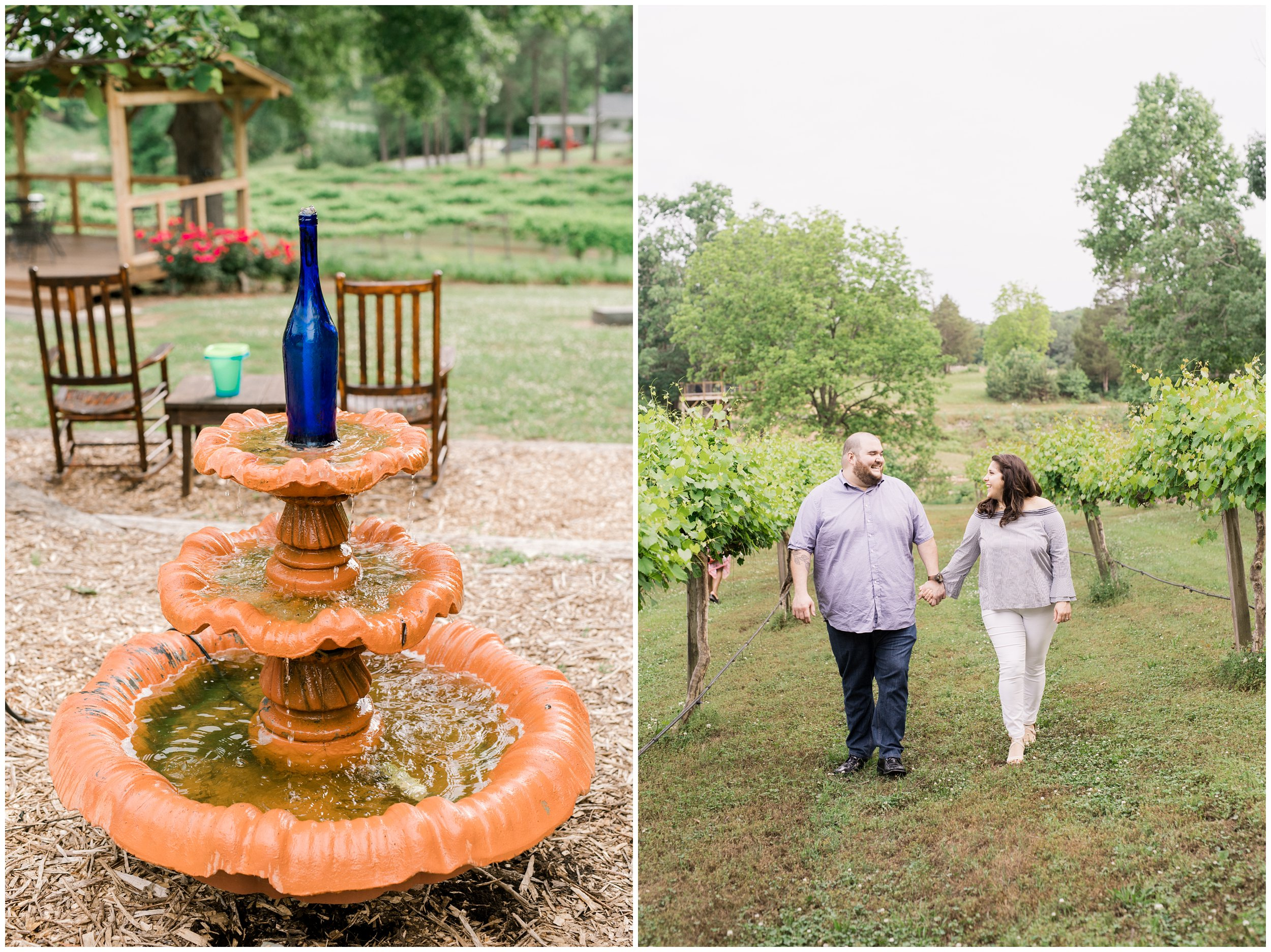 treehouse vineyard engagement photos